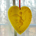 Beeswax window valentine's decoration